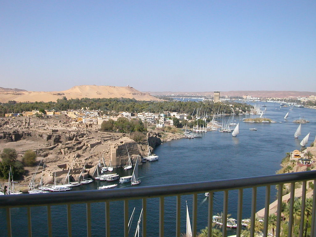 The Building of the Aswan Dam on the River Nile in Egypt